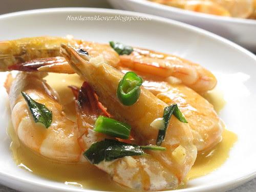 Stir-fried butter sauce prawns