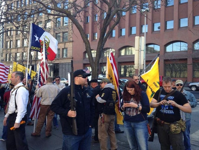 Gun rights activists host armed rally in front of Spokane