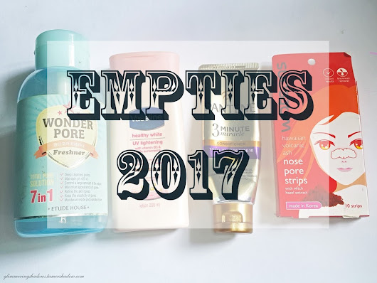 Empties 2017: Face Products I've used up (Olay, Etude House and more!)