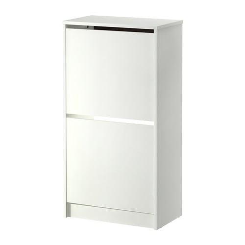 BISSA Kenkäkaappi, 2 lokeroa IKEA Pitää kengät järjestyksessä ja vapauttaa lattiatilaa.