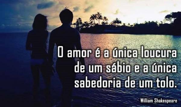 O Amor é A única Loucura De Um Sábio E A única Sabedoria De Um Tolo