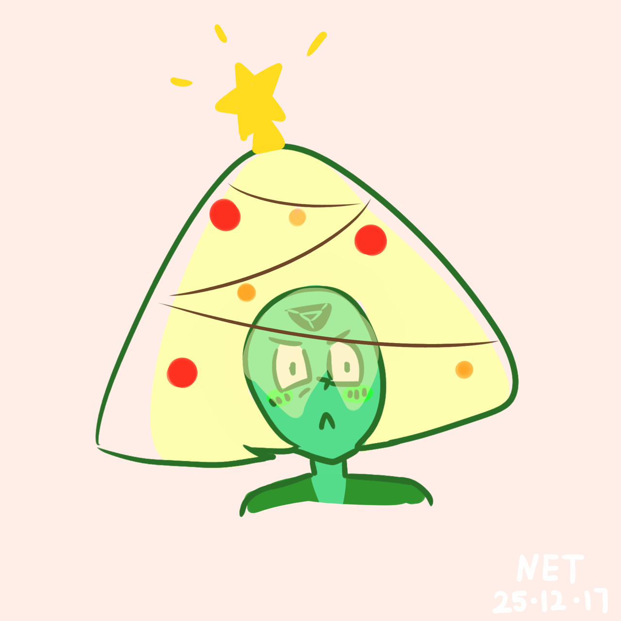 steven tried to get the gems into the holiday spirit…they like decorating the best