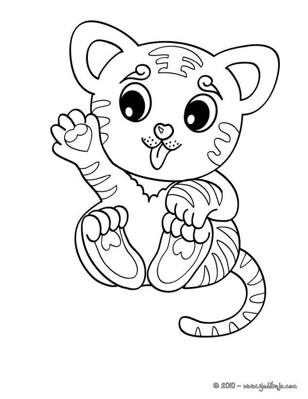 Dibujos Para Colorear Cachorro Tigre Es Hellokids Com