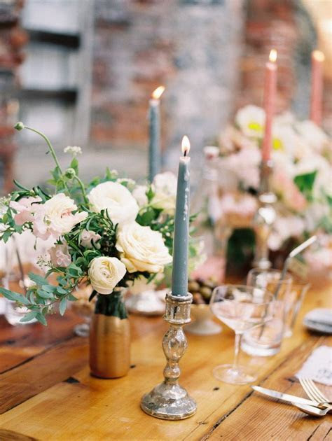 wedding table decorations with candles