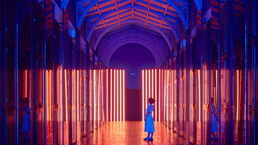 Flynn Talbot transforms V&A's former textile room into colourful hall of light