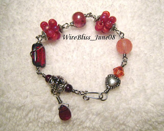 Wire wrapped Fruity Bracelets and Pendant