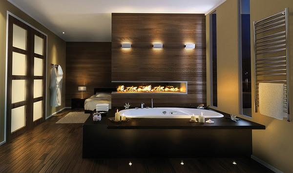 Luxury Master Bathroom Idea by Pearl: drop-in bathtub and built-in ...