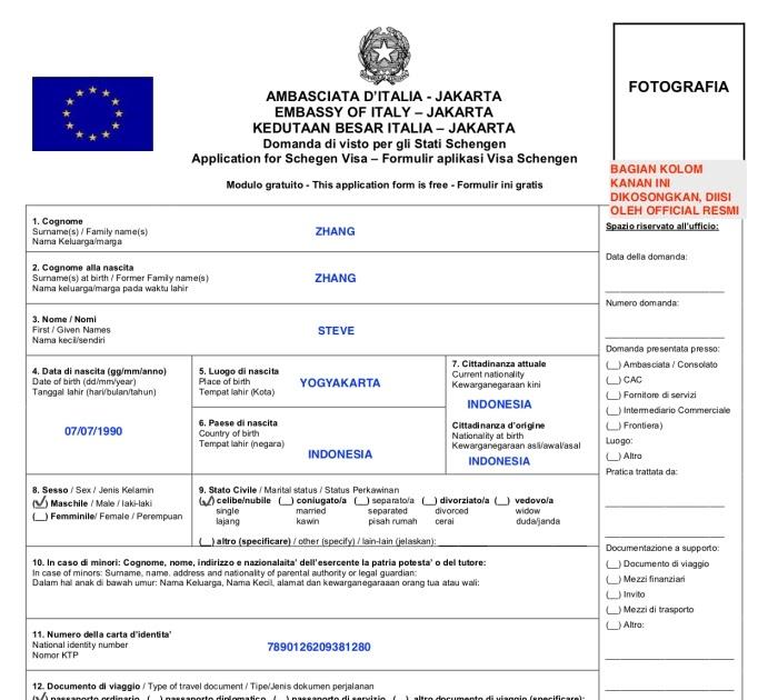 Contoh Surat Izin Suami Untuk Visa Schengen Dalam Bahasa ...