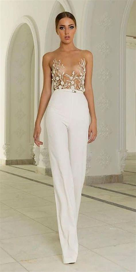 gorgeous wedding pantsuits  jumpsuits  brides