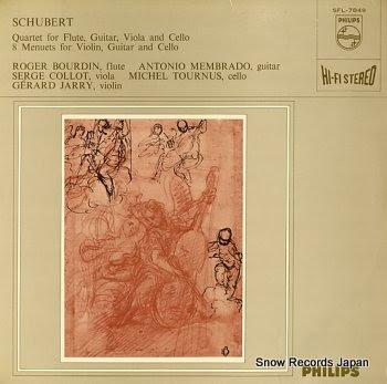 BOURDUN, ROGER schubert; quartet for flute, guitar, viola & violoncello