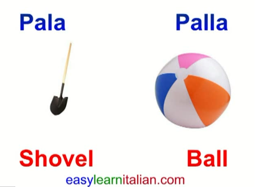 Italian pronunciation video: words changing meaning with single or double consonants - Easy Learn Italian
