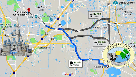 Florida Trip | How far is Disney World from Kissimmee Florida? - Disney Orlando And Beyond