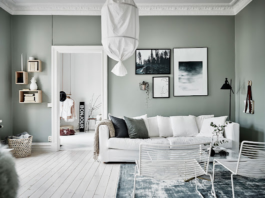 Green grey home with character - COCO LAPINE DESIGN