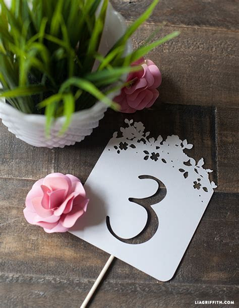 DIY Wedding Table Numbers   Lia Griffith