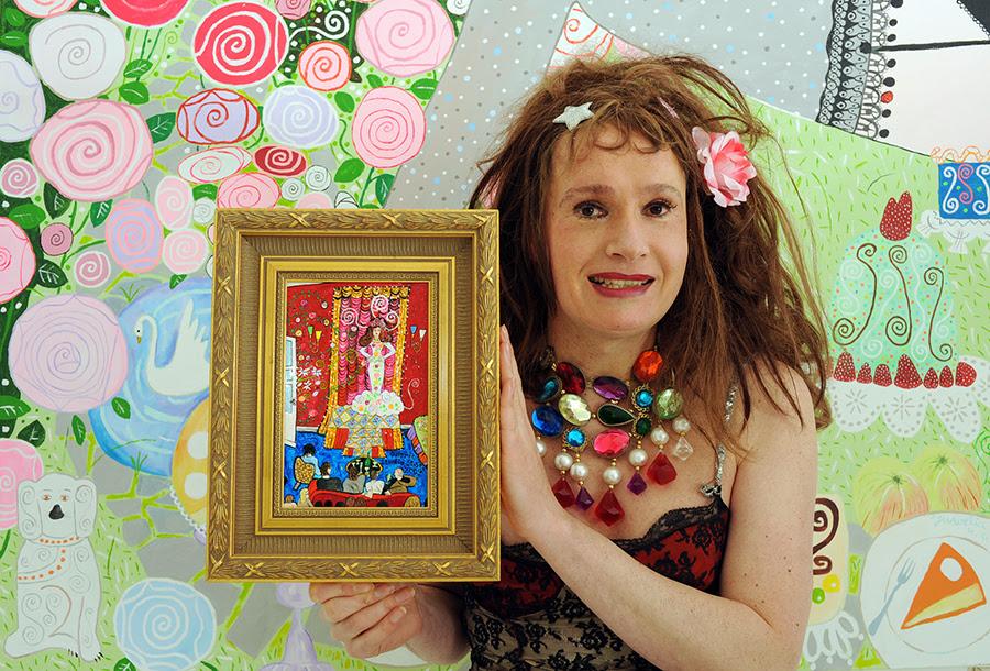 Juwelia with painting. JACK HANLEY/PERADAM