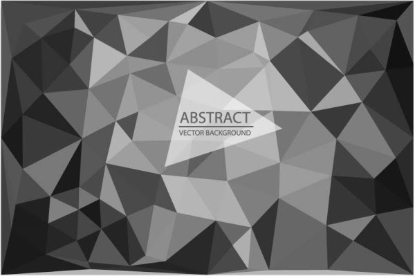 4 Designer Modern Abstract Design In Black And White Triangle