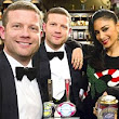 That doesn't look like The X Factor set! Dermot O'Leary and Nicole Scherzinger enjoy a pint in Corrie's Rovers Return ahead of the Live Final
