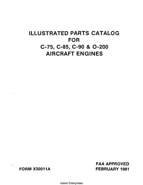 Continental Illustrated Parts Catalog for C-75, C-85, C-90