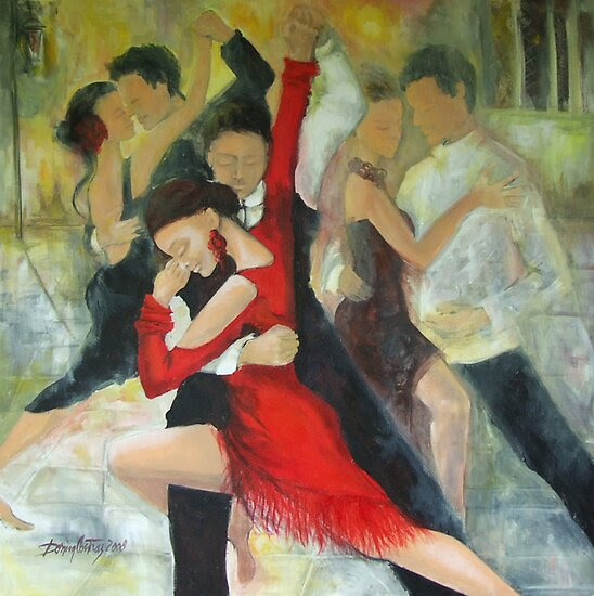 Oil Paintings: Sentimental tango by Dorina Costras