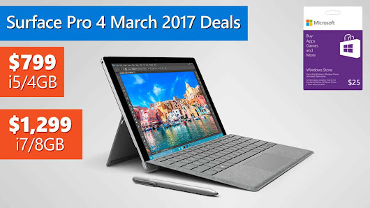 Microsoft Surface Pro 4 March 2017 Deals
