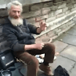 Street Busker Plays the Spoons to 'Insomnia' by Faithless