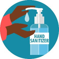 Image of a persons hands using hand sanitizer