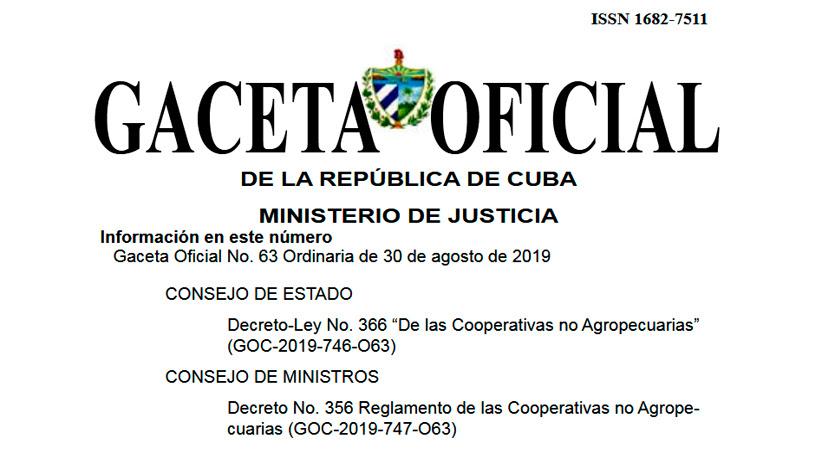 Nuevas normas jurídicas para cooperativas no agropecuarias en Cuba