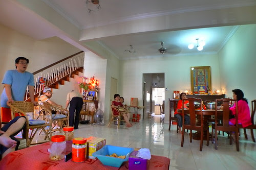 Inside uncle's house