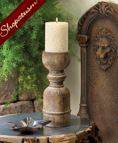 20 Unstained Wooden Centerpieces Old World Style Candle Holders