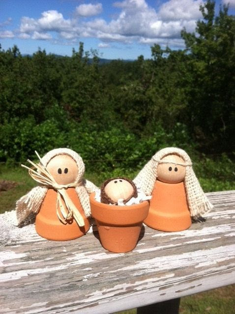 Hey, I found this really awesome Etsy listing at http://www.etsy.com/listing/163487237/clay-pot-nativity