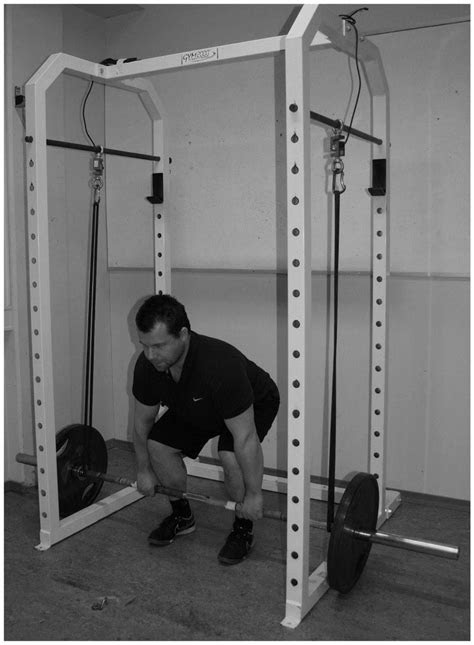 Lower position in the traditional deadlift. Picture