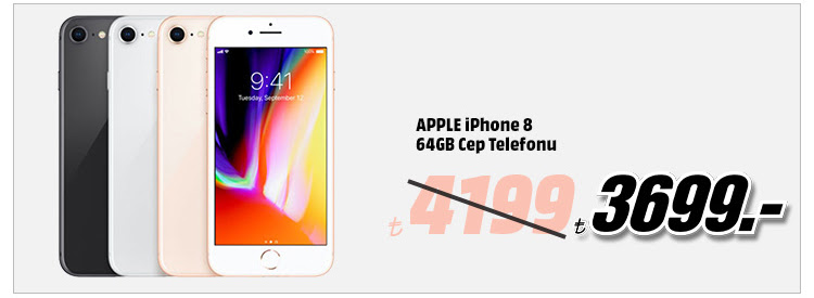 APPLE iPhone 8 64GB Cep Telefonu 3699TL