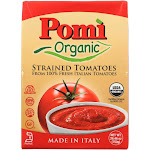 Pomi Organic Strained Tomatoes - Case Of 12 - 26.46 Oz
