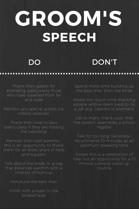 grooms speech wedding ideas wedding tips groom