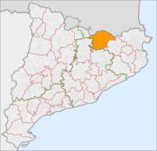 Localització del Ripollès respecte Catalunya