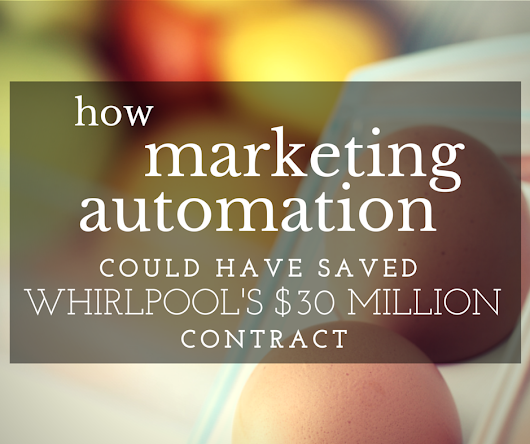 How Marketing Automation Could Have Saved Whirlpool's $30 Million contract