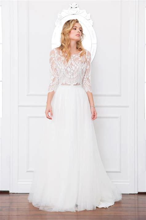 Samara bodice and Lilah skirt   lace top / bridal
