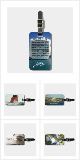 Cruise Ships 4 Luggage Tags