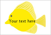 Fish Pictures - Editable Text   Free Early Years & Primary ...
