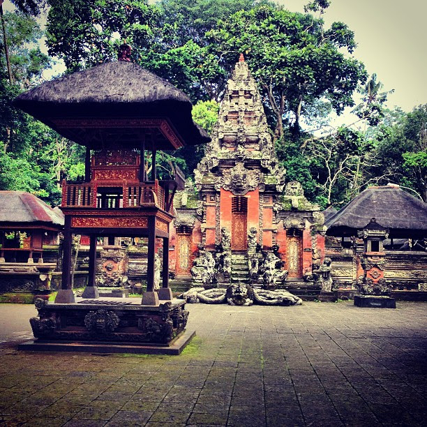 Monkey temple in #ubud. I feel that I've been here before. Many years ago. #travel #bali #temple
