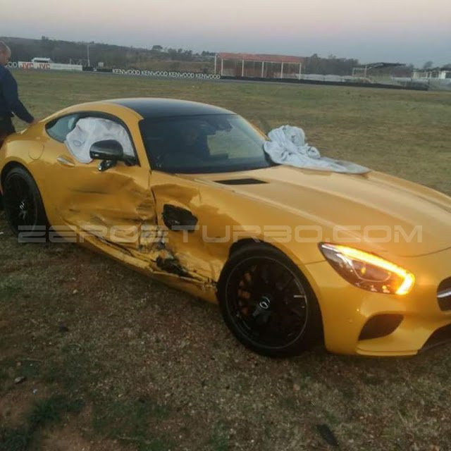 Mercedes Amg Gt Crashes Into C63 In South Africa The