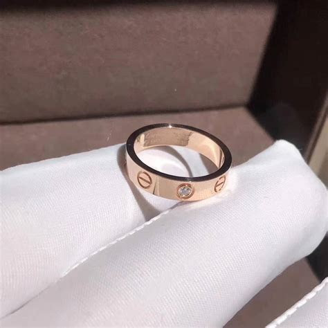18K pink gold yellow gold Cartier Love wedding band 1