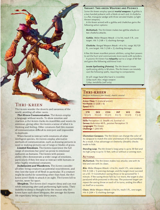 The Burnt World of Athas - Monster Manual Excerpt: Thri-Kreen