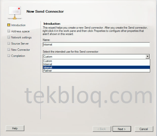 How To Create a Send Connector in Exchange Server 2010