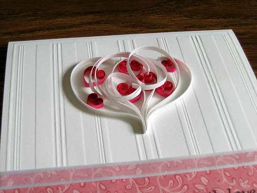 Quilled Valentine Card Instructions