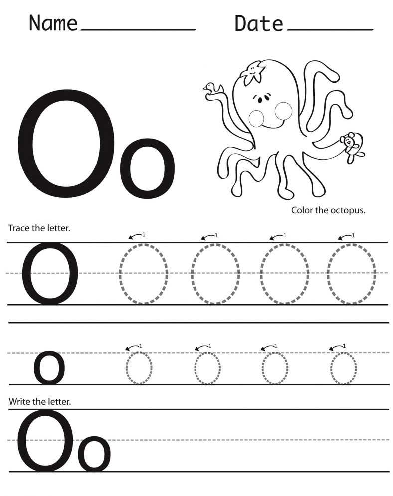 Letter o Tracing Worksheet fun 788x995