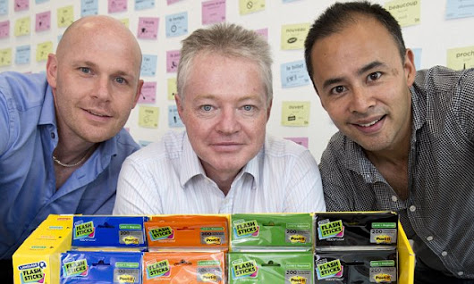 Business idea born after Post-it Notes helped language to stick
