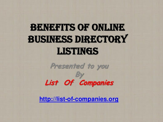 Benefits of Business Directory Listings