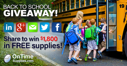 $1,800 Giveaway: win FREE School Supplies for Teachers and Kids!
