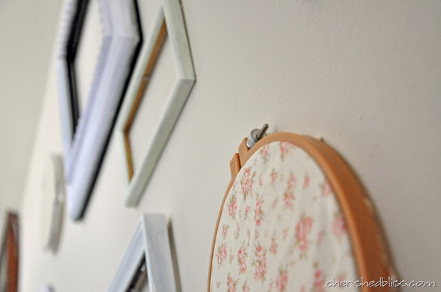 Cherished Bliss - Embroidery hoop gallery wall